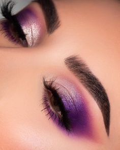 makeup tutorial mac eyeshadow vs makeup revolution makeup quotes to blend makeup eyeshadow makeup demo to eyeshadow makeup for brown eyes eyeshadow makeup look eyeshadow makeup video Makeup Eye Looks, Purple Eye Makeup, Creative Makeup Looks, Colorful Eye Makeup, Cute Makeup, Glam Makeup, Gorgeous Makeup, Makeup Inspo, Eyeshadow Makeup