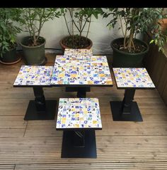 Coffee Tables da giardino. Patchwork cementine multicolor artigianali. #DomenicoMori  Garden Coffee Tables. Handmade cementry patchwork tiles. #MoriDomenico  #madeinItaly #multicolor #summer #coffee #garden #tables #patchwork #tiles #handmade
