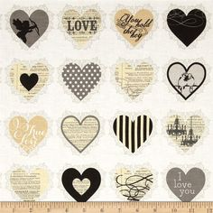 Riley Blake  Lost and Found Love  Brand new by SewiliciousFabrics