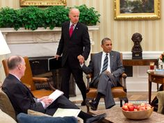 Biden arrives for a meeting with Obama, then Secretary of State Hillary Rodham Clinton, and then National Security Adviser Tom Donilon in the Oval Office on July 18, 2012. (White House Photo/Pete Souza)  via @AOL_Lifestyle Read more: https://www.aol.com/article/news/2017/04/04/these-throwback-photos-of-barack-obama-and-joe-biden-will-give-you-hope/22025782/?a_dgi=aolshare_pinterest#fullscreen