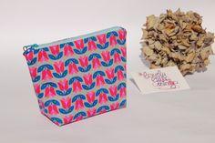 Kosmetiktasche/Schminktäschchen gemustert aus tollen Baumwollstoffen <3