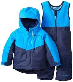 COLUMBIA BABY BOYS BUGA SET SKI JACKET SNOW BIB PANTS INFANT 6 12 MONTHS BLUE #Columbia #Snowsuit