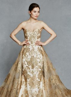 Gold wedding dresses 2018