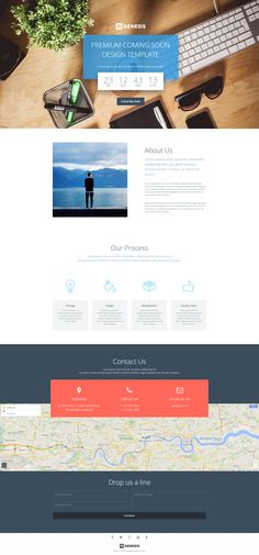 Coming soon page template with page builder