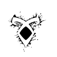 Shop Shadowhunters rune / The mortal Instruments - Angelic power rune voids and outline splashes (black) - Clary, Alec, Izzy, Jace, Magnus - Malec shadowhunters t-shirts designed by as well as other shadowhunters merchandise at TeePublic. Mortal Instruments Tattoo, Mortal Instruments Wallpaper, Mortal Instruments Books, Shadowhunters The Mortal Instruments, Shadowhunter Tattoo, Angelic Power Rune, Les Runes, Clary And Jace, Shadowhunters Tv Show