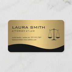 Attorney / Gold Metallic Scales Business Card Lawyer Business Card, Business Card Design, Real Estate Gifts, Attorney At Law, Elegant Business Cards, Marketing Consultant, Zazzle Invitations, Finance, Scale