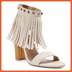 948e75f70c9 Betseyville Women s Haley Slide Sandals with studs and fringe detail at  ankle (9
