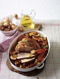 Das Rezept für Schweinebraten mit Kürbis-Quittengemüse und weitere kostenlose Rezepte auf LECKER.de