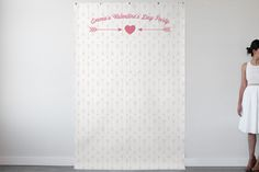 Cute Valentine's Day Photo Booth Backdrop - Sweet! Valentines Day