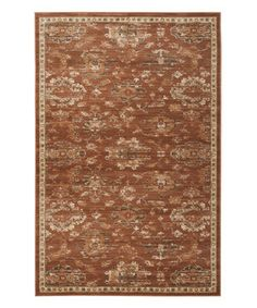 Love this Rust & Ivory Gable Power Loomed Rug by  on #zulily! #zulilyfinds