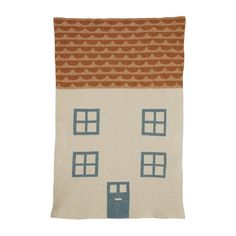 Mini Blanket – House – Oatmeal Navy