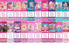 all barbie movies names
