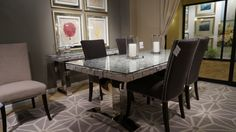 Magnolia Collection :: Native Dining Table, shown with Soho Dining Chair in Sepia (also available in Almond) #OEF #dining #furniture @orientexpressfurn