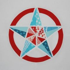 Army Star Paper Pieced Block. Use this free quilt block pattern to make patriotic quilts.