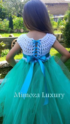 Lovely and Unique Handmade Dress, perfect for your special birthday party, wedding, christening or special occasion! The flower sash and the head piece of you choice are included! The dress is made to order with lots of love by Mimoza Luxury designer. The dress can be customized to meet