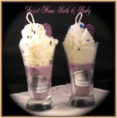 Raspberry Vanilla Cupcake Candles with Natural Soy Wax Blend on Etsy, $12.50
