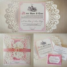 Once Upon a Time Fairytale Princess Wedding Invitation Story