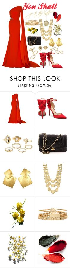 """Beauty"" by n-butterfly ❤ liked on Polyvore featuring Alex Perry, Charlotte Russe, Chanel, Oscar de la Renta, Marco Bicego, Treasure & Bond, Rituel de Fille and Gold Eagle"