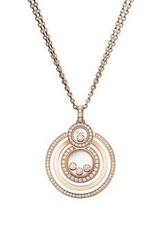 Chopard Happy 8 Pendant 18k rose gold & diamonds