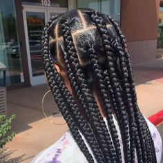 jumbo box braids hairstyles going back hairstyles in a bun braid hairstyles braided hairstyles you need to try hairstyles all back hairstyles for 60 year olds hairstyles natural hairstyles with natural hair Cornrows With Box Braids, Big Box Braids Hairstyles, Long Pixie Hairstyles, Braided Hairstyles For Black Women, Braids Wig, African Braids Hairstyles, Braided Hairstyles Updo, Cut Hairstyles, Pixie Haircuts