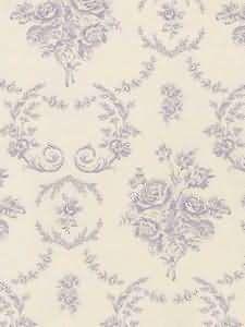 Saratoga Toile - Lilac Wallpaper