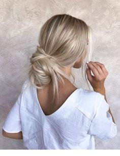 46 Platinum Pearl Blonde Hair Colors For Long Hair Hair Cute Simple Hairstyles, Cute Hairstyles For Medium Hair, Pretty Hairstyles, Easy Hairstyles, Stylish Hairstyles, Hairstyle Ideas, Medium Blonde Hair, Wedding Hairstyles, Amazing Hairstyles