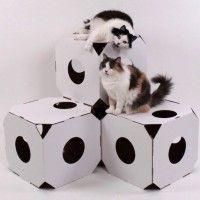 Cardboard Catty Stacks Modular Cat Condos