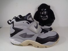 3930890cff Mens Nike Air Diamond Turf Grey Black Basketball shoes size 9 US 309434-012  #