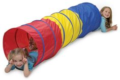 www.buygiftidea.com/pacific-play-tents-find-me-multi-color-6-tunnel/   Pacific Play Tents Find Me Multi Color 6′ Tunnel   Children can crawl, hide, and play in Pacific Play Tent's colorful Find-Me Multi Tunnel. At 6 feet long and 19 inches wide, the tunnel offers plenty of space for kids to play. The Find Me Tunnel is recommended for children ages three and older and is made from durable, flame-retardant 70 Denier nylon.