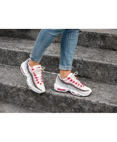 nike air max 95 red trainers women
