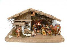Weihnachtskrippe Echtholzfiguren