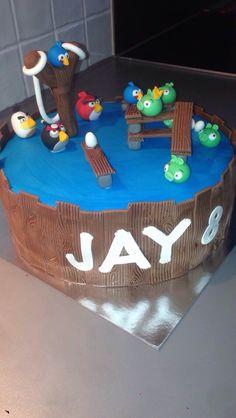 Jay's Angry Birds Verjaardagstaart...