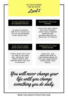 30 Challenges For 30 Days (That Will Make You A Better Person)