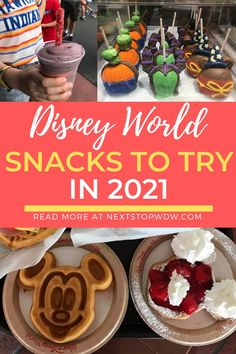 There are lots of new snacks appearing across Walt Disney World each year. There are also lots of well established and classic snacks to try as well during your Disney World vacation. I thought I would compile a list of some of the Disney World Snacks to try in 2021. Here you will find a selection of 21 snacks and drinks to look out for during your Disney World vacation that we recommend trying. Disney World Map, Disney World Characters, Disney World Vacation Planning, Walt Disney World Vacations, Disney Resorts, Trip Planning, Disney Snacks, Disney Food, Disney World Information