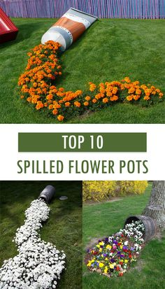 TOP 10 Spilled flower pots that transform your flowers into spectacular works of art → - Garden Lovers Club - Gardening Ideas - Plant Information - DIY Garden Projects - Garten Deko - Plants Garden Yard Ideas, Diy Garden Projects, Garden Planters, Lawn And Garden, Garden Art, Backyard Ideas, Garden Lamps, Dream Garden, Front Yard Landscaping