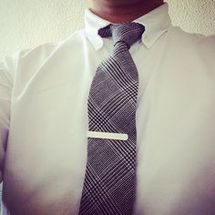 Glen check wool tie of Classtage