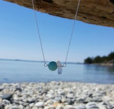 Sea Glass and Gemstone Necklace