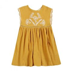 Robe Carlotta Moutarde - Robes - Petite-fille - e-shop