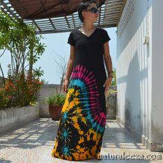 Psychedelic Tie-Dye Maxi dress:)  #naturaleeza #fashion #partydress