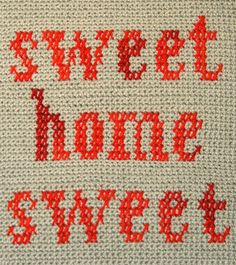 Whit's Knits: Sweet Home Sweet Pillow - Knitting Crochet Sewing Crafts Patterns and Ideas! - the purl bee