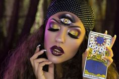 Halloween maquillage pour femme de dernière minute - voyante gitane