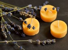 Lavender 100% beeswax candles. What a wonderful aroma.