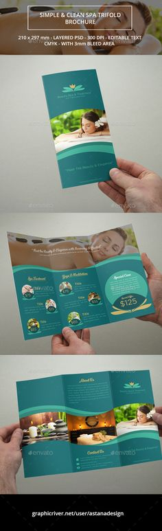 Beauty Spa Trifold Brochure Template #brochure Download: http://graphicriver.net/item/beauty-spa-trifold-brochure/11732800?ref=ksioks