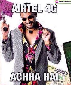 nana patekar Airtel 4G Internet funny Meme image