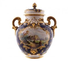 Nineteenth-century Royal Worcester parcel gilt and : Lot 694