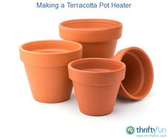 This is a guide about making a terracotta pot candle heater. A few terracotta flower pots and a candle in a glass jar can be used to construct a small space heater.