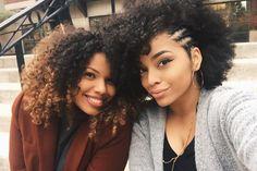 "naturalafricangoddess: "" Left: @tylauren Right: actually_ashly """