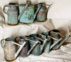 Old watering cans . . Oh my!
