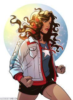 A recent commission of America Chavez by alliejacques Dc Comics Women, Marvel Women, Marvel Girls, Marvel Fan Art, Marvel Comics Art, Marvel Heroes, Avengers Quotes, Avengers Imagines, Avengers Cast
