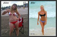 5'7. 167 lbs - 120 lbs